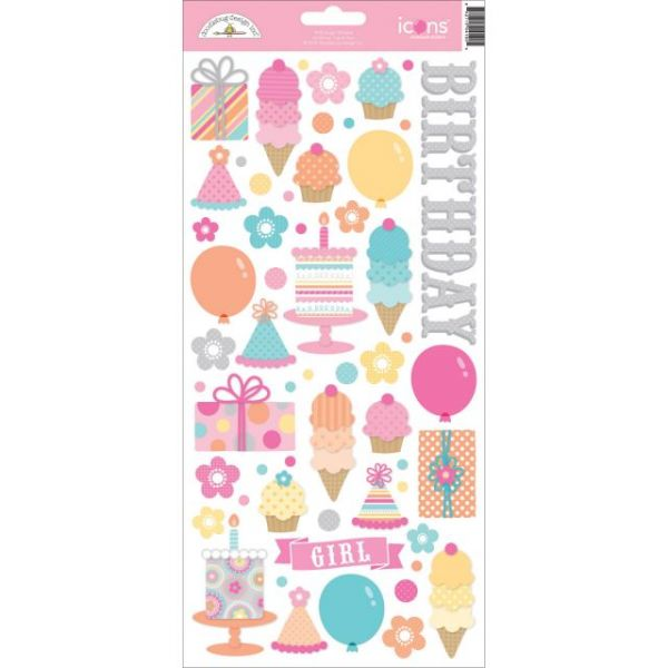 "Sugar Shoppe Cardstock Stickers 6""X13"""