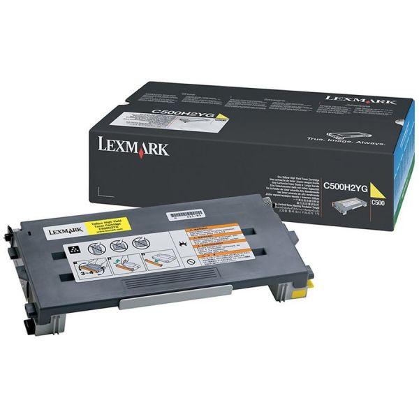 Lexmark C500H2YG Yellow High Yield Toner Cartridge