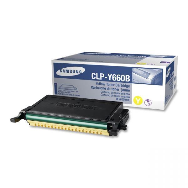 Samsung CLP-Y660B Yellow Toner Cartridge