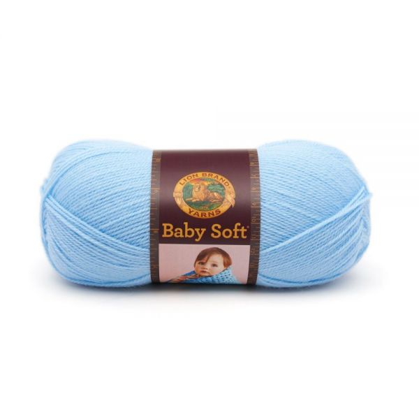 Lion Brand Baby Soft Yarn - Pastel Blue
