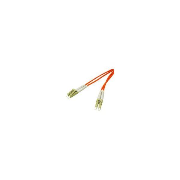 10m LC-LC 50/125 OM2 Duplex Multimode PVC Fiber Optic Cable - Orange
