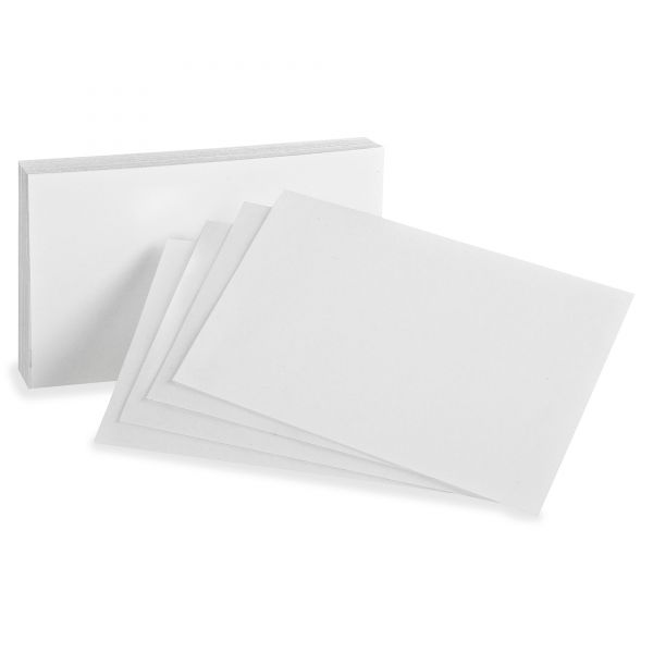 "Oxford 3"" x 5"" Blank Index Cards"