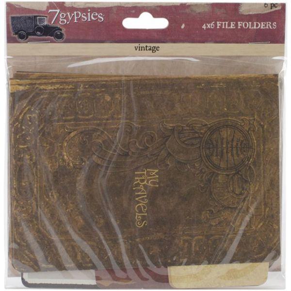 """Serengeti Vintage Folders 4""""X6"""" 6/Pkg"""