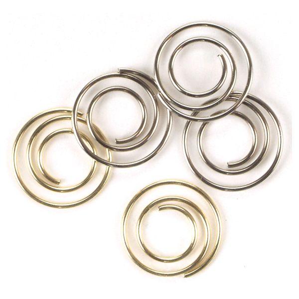"Mini Metal Spiral Clips .5"" 25/Pkg"
