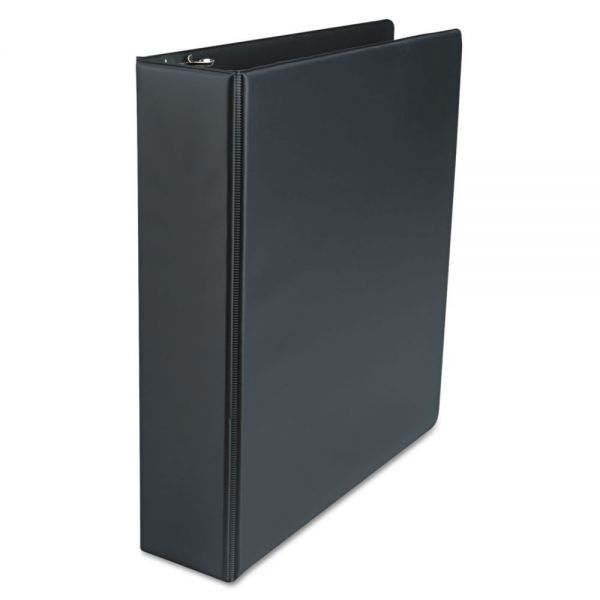 "Universal Economy Non-View 3-Ring Binder, 2"" Capacity, Round Ring, Black, 4/Pack"