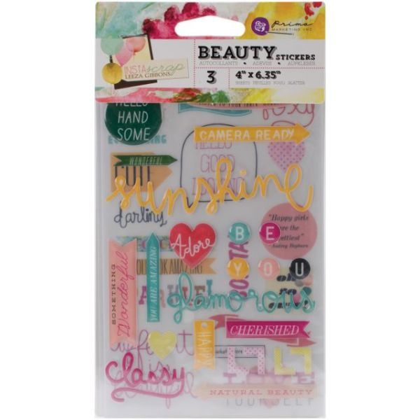 """Insta-Scrap Stickers 4""""X6"""" Sheets 3/Pkg"""