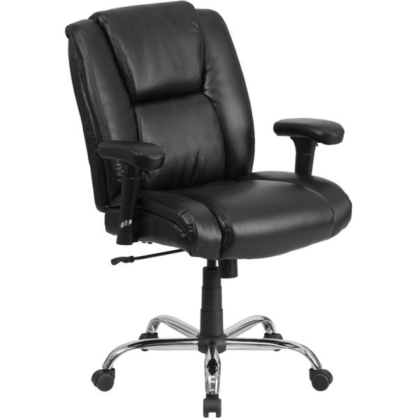 Flash Furniture Big & Tall Leather Swivel Task Chair [GO-2132-LEA-GG]