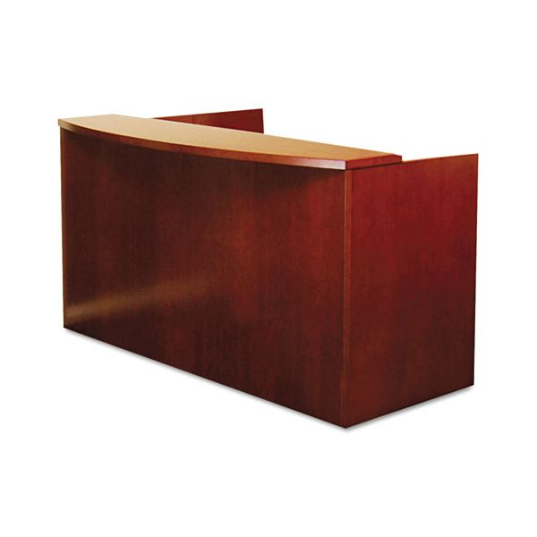Mayline Mira Series Wood Veneer Reception Desk Shell, 72w x 36d x 43½h, Medium Cherry