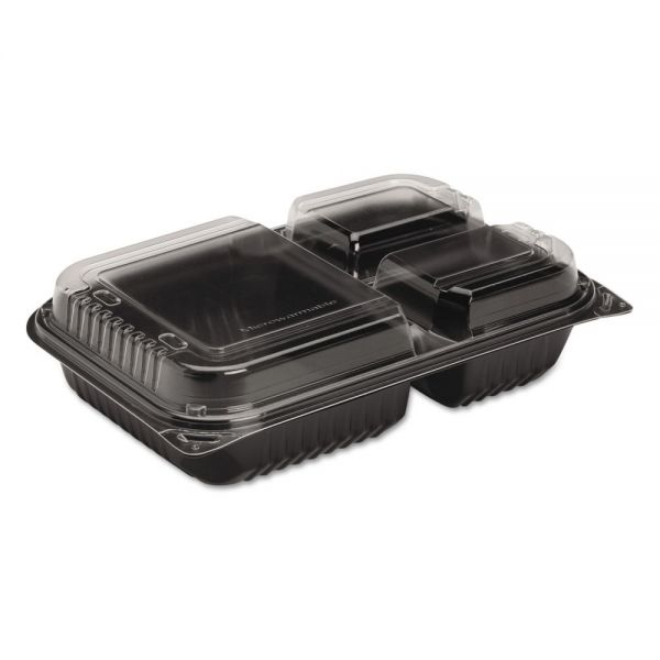 SOLO Cup Company Hinged-Lid Takeout Dinner Containers