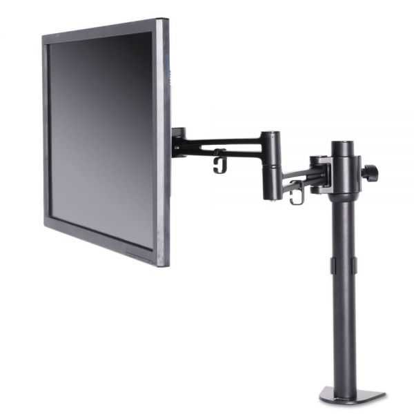 "Alera AdaptivErgo Pole-Mounted Monitor Arm, Single Monitor up to 32"", Black"