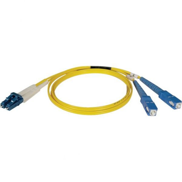 Tripp Lite 1M Duplex Singlemode 8.3/125 Fiber Optic Patch Cable LC/SC 3' 3ft 1 Meter