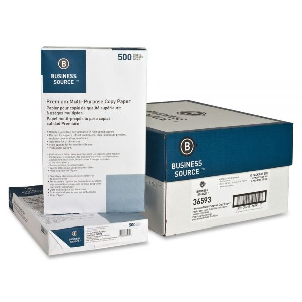Business Source White Copy & Multipurpose Paper