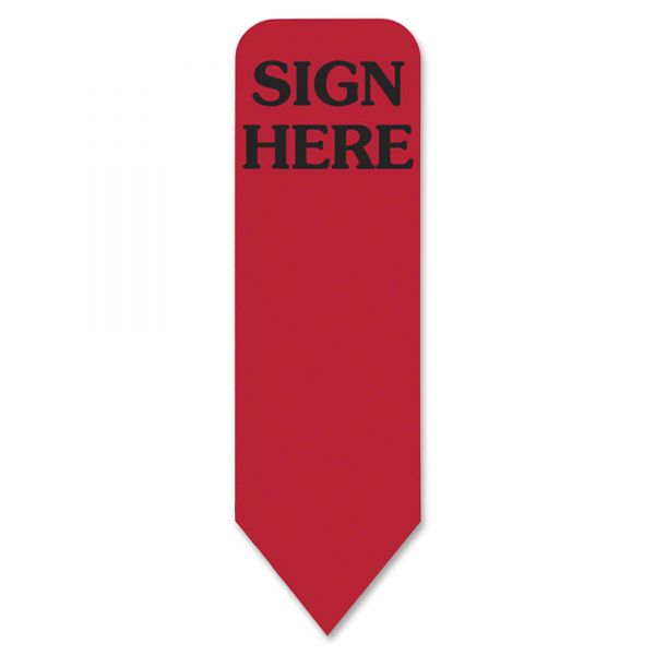 """Redi-Tag Arrow """"Sign Here"""" Flags"""