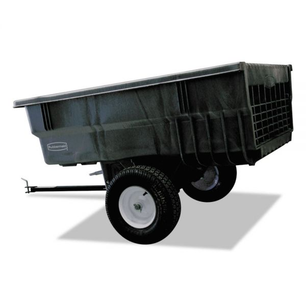 Rubbermaid Commercial Structural Foam Trailer, 15 cu ft, 1500lb Cap, 39 1/2w x 76d x 33 1/4h, Gray