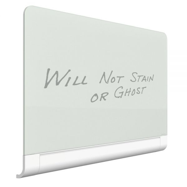 Quartet Horizon Magnetic Glass Dry Erase Board with Hidden Tray