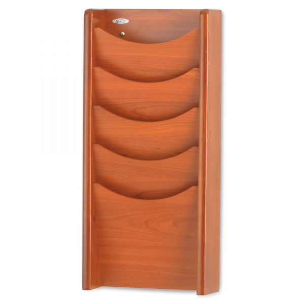 Safco Solid Wood Wall-Mount Literature Display Rack