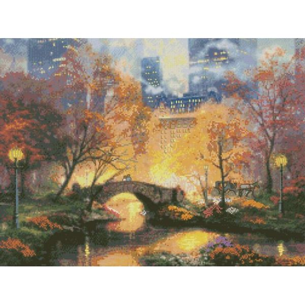 Thomas Kinkade Central Park Counted Cross Stitch Kit