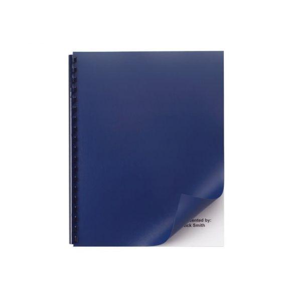 Swingline GBC Opaque Plastic Binding System Covers, 11-1/4 x 8-3/4, Navy, 25/Pack