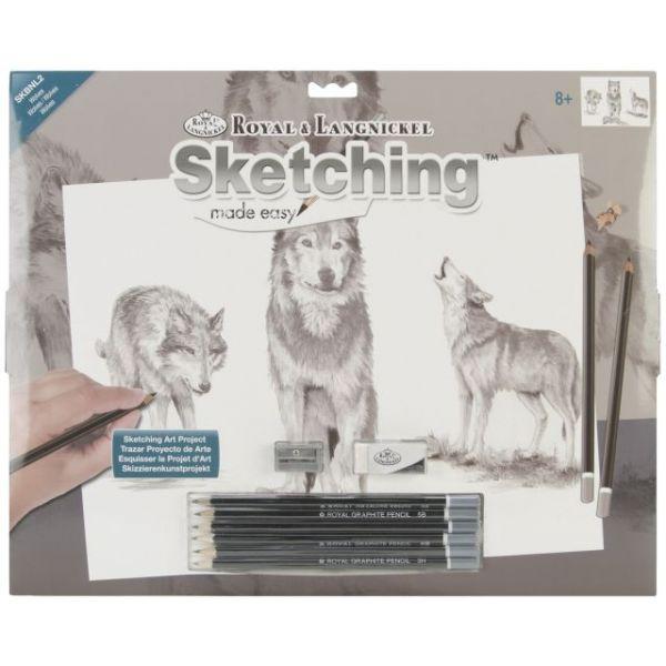 """Sketching Made Easy Large Kit 16""""X12.75"""""""