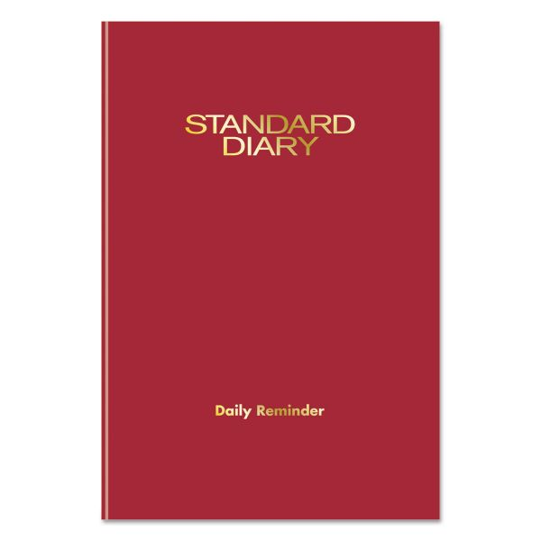 AT-A-GLANCE Standard Diary Recycled Daily Reminder, Red, 5 1/8 x 7 1/2, 2019