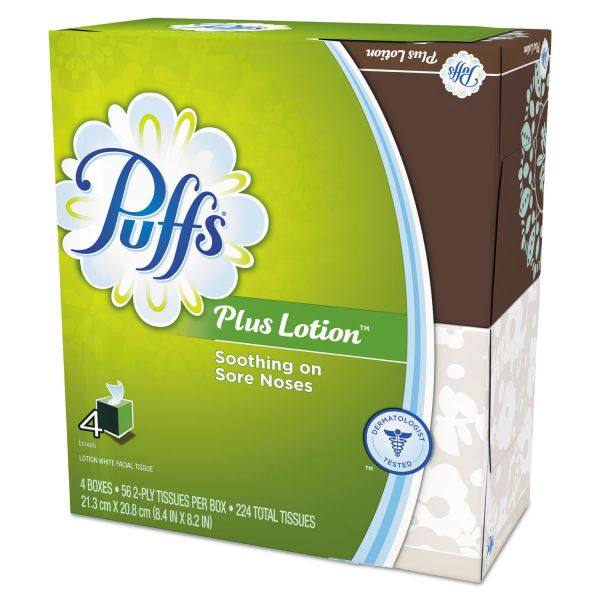 Puffs Plus Lotion 1-Ply Facial Tissues