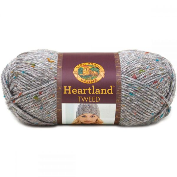 Lion Brand Heartland Yarn - Mount Rainier Tweed
