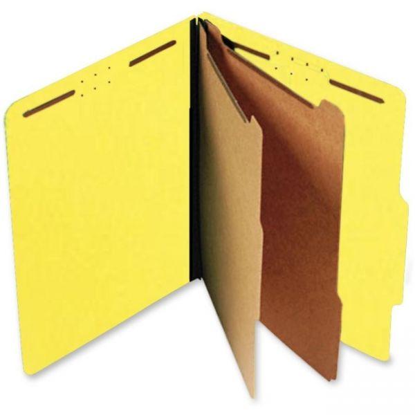 SJ Paper Yellow Pressboard Classification Folders