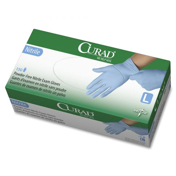 Curad Disposable Nitrile Exam Gloves