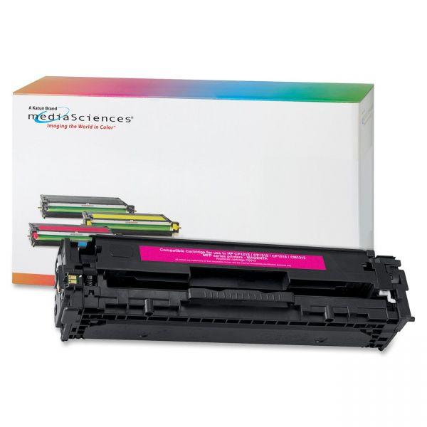 Media Sciences Remanufactured HP 128A Magenta Toner Cartridge