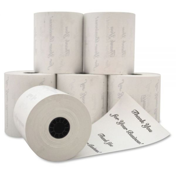 PM Company Thermal Paper Rolls with Printed Back