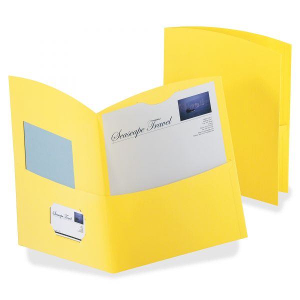 Oxford Contour Yellow Two Pocket Folders
