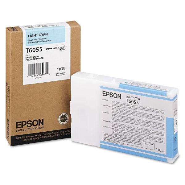 Epson T6055 Light Cyan Ink Cartridge