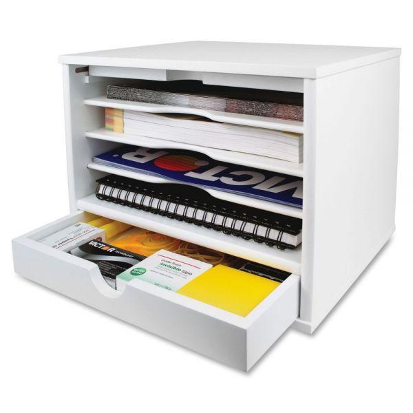 Victor Pure White Desktop Organizer