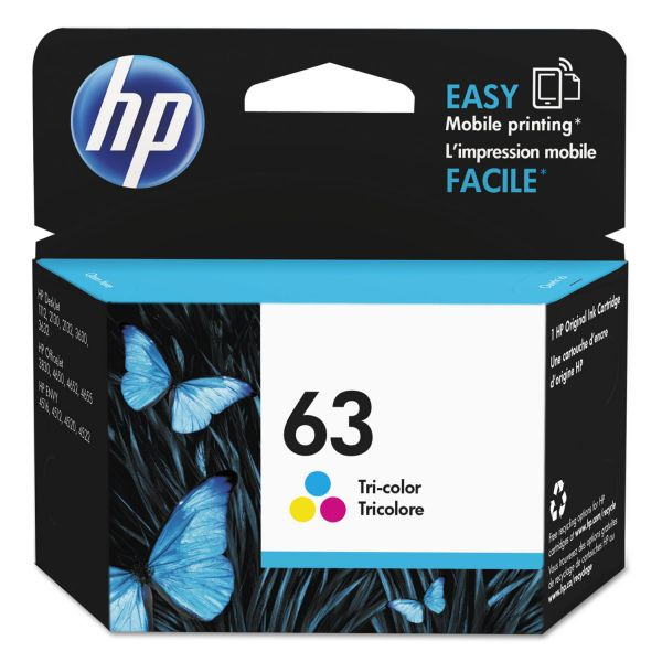 HP 63 Tri-Color Ink Cartridge (F6U61AN)