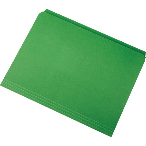 SKILCRAFT Green Colored File Folders