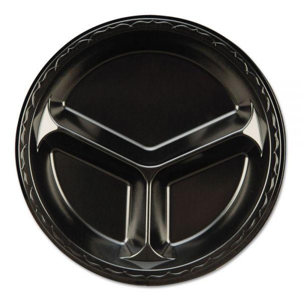 "Genpak Elite 10.25"" Foam Compartment Plates"
