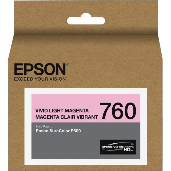 Epson 760 UltraChrome Vivid Light Magenta HD Ink Cartridge (T760620)