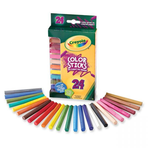 Crayola Sketch & Shade Woodless Color Sticks