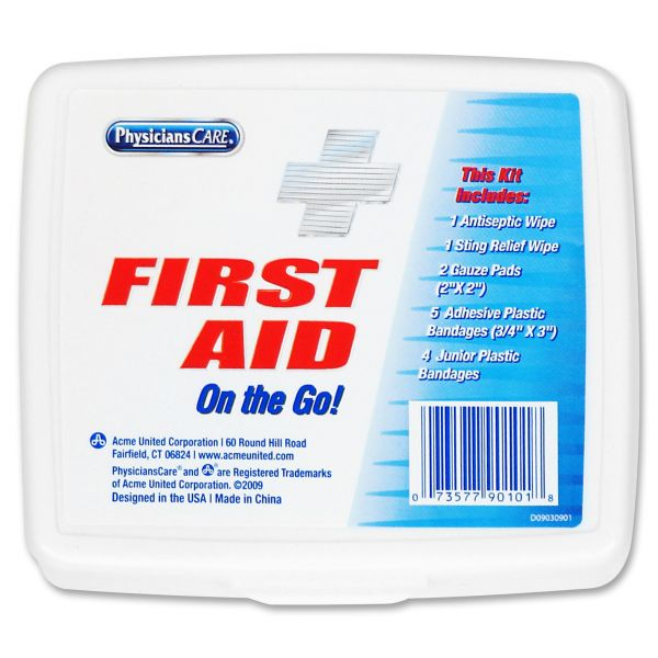 PhysiciansCare by First Aid Only First Aid On the Go Kit, Mini, 13 Pieces/Kit