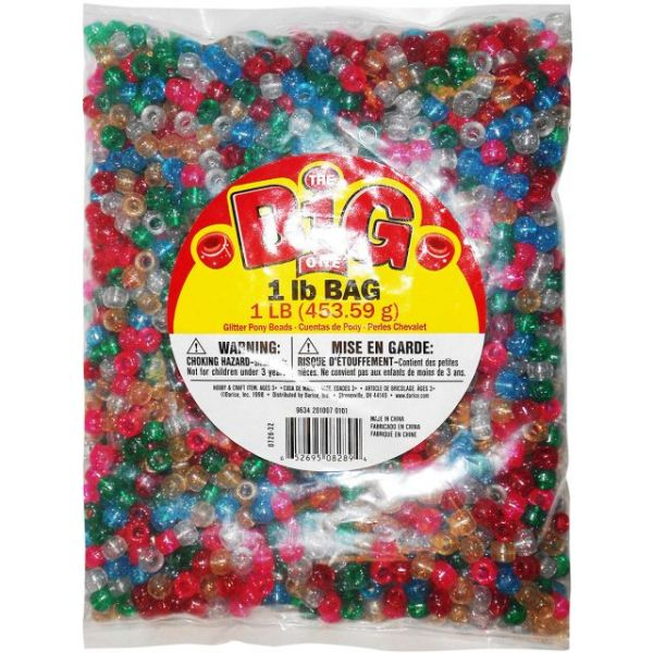 The Big One Glitter Pony Beads