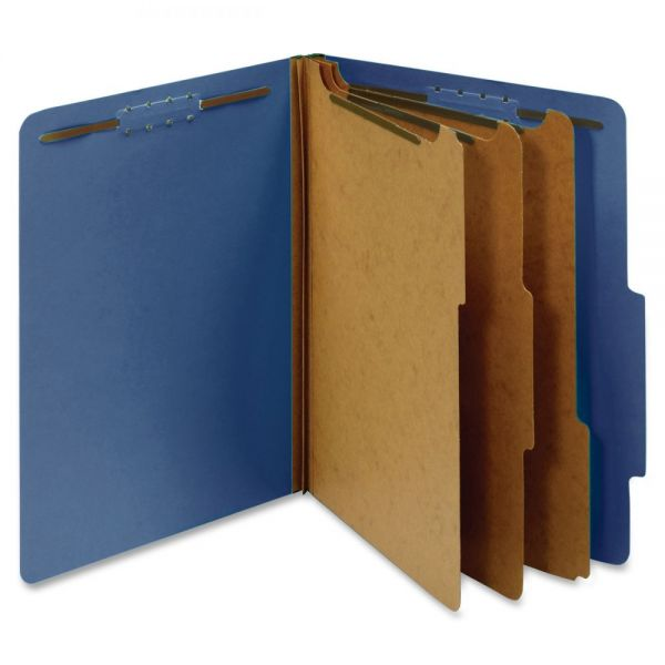 Globe-Weis 3-Divider Pressboard Classification Folders