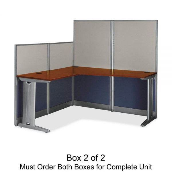 bbf Office-in-an-Hour L-Shaped Desk Box 2 of 2 by Bush Furniture