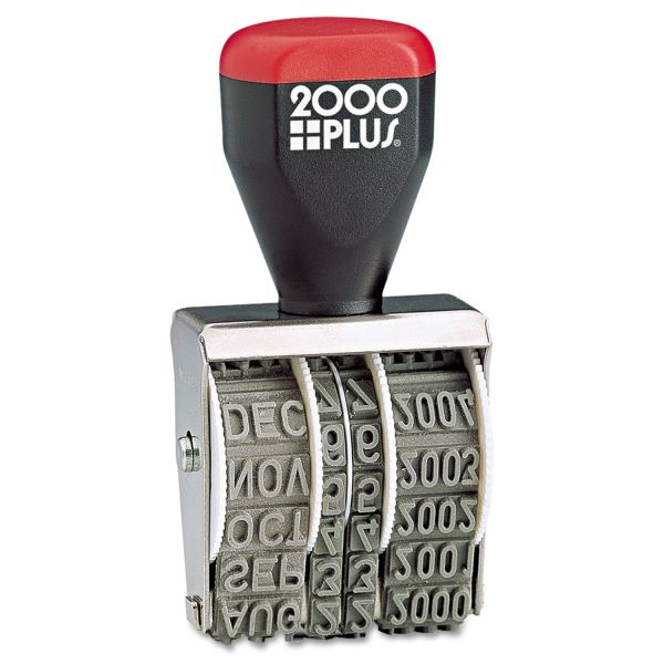COSCO 2000 PLUS Traditional Date Stamp, Six Years, 1 3/8 x 3/16""
