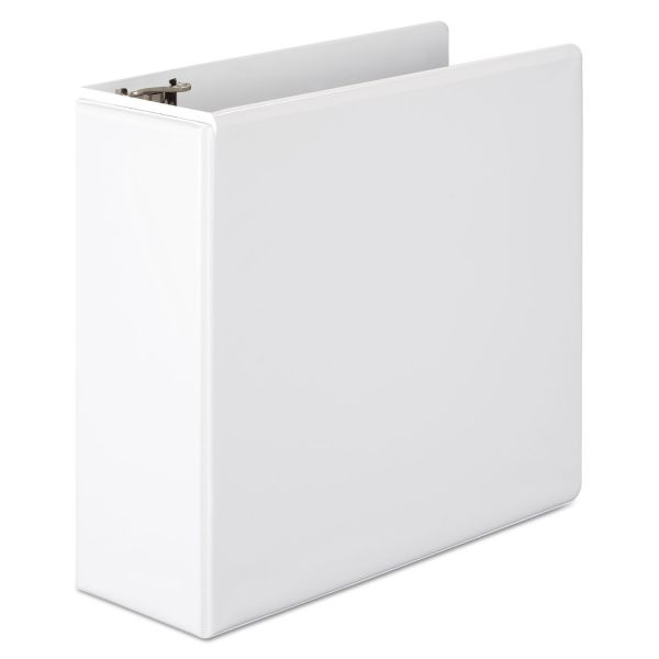 "Wilson Jones Basic D-Ring View Binder, 4"" Cap, White"