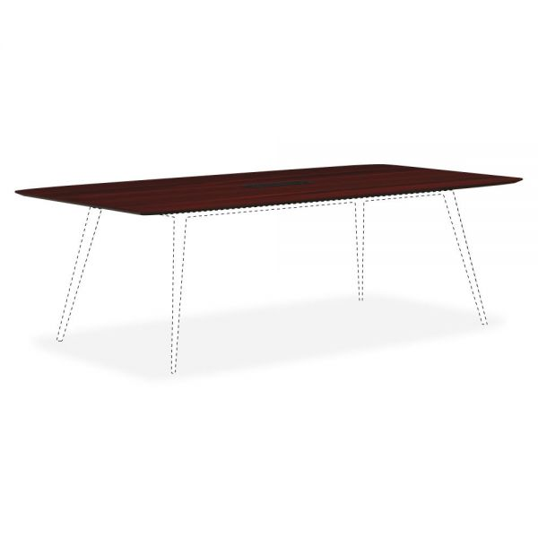 Lorell Mahogany Rectangular Conference Tabletop with Wire Management
