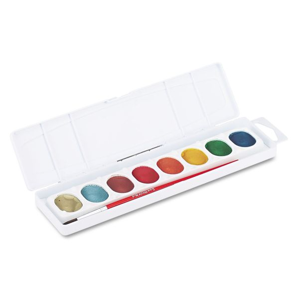 Prang Semi-Moist Washable Metallic Watercolors