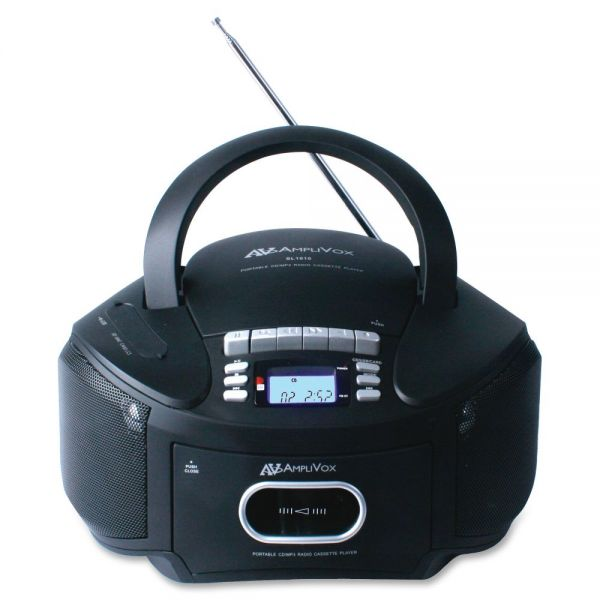 AmpliVox Top-loading CD/AM/FM Tuner Boom Box