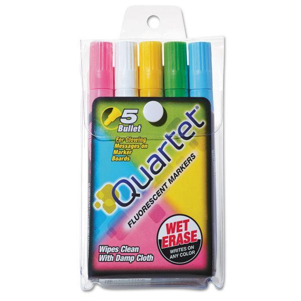 Quartet Glo-Write Fluorescent Dry-Erase Markers