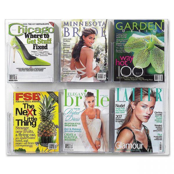 Safco 6-Pocket Magazine Display Rack