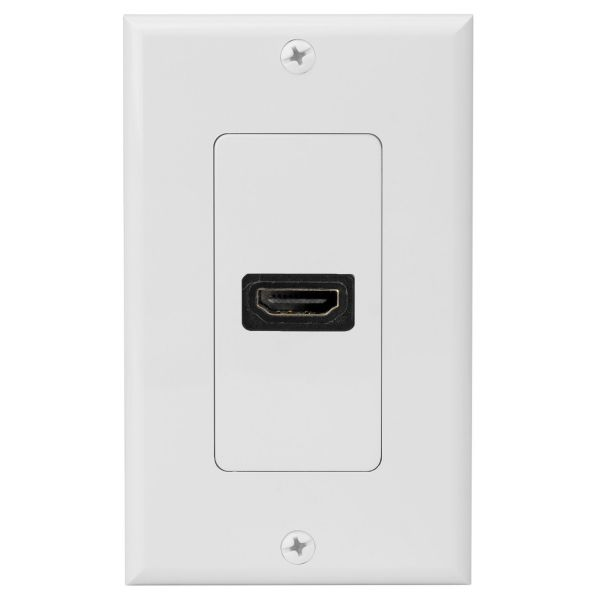 4XEM 1 Port/Outlet Female HDMI Wall Plate (White)